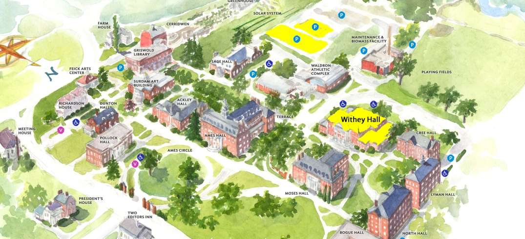 Campus Map 2017 Cropped Highlighted